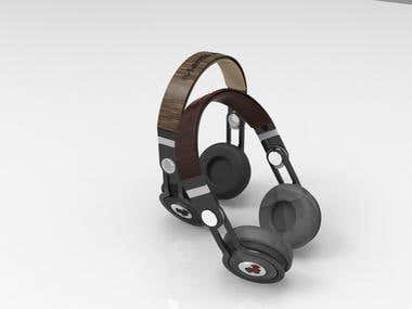 3d design of headphones