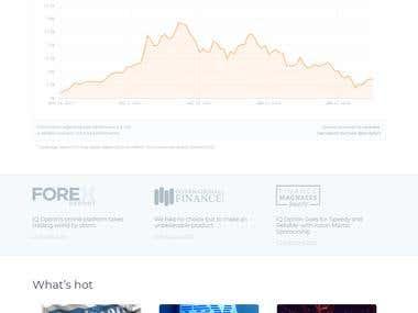 Cryptocurrency Trading & exchange platform