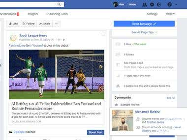 Facebook Management - All English (New page)