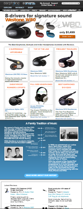 Customization of E-commerce Store for Headphones.