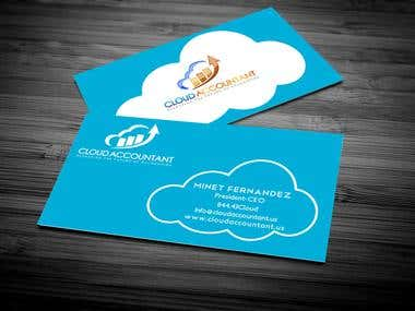 business card for cloud accountant