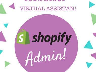 "Full Time ""Virtual Assistant"" For Shopify"