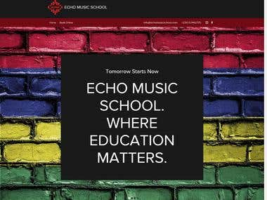 Echo Music School (WIX Website)