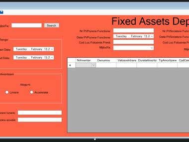 Fixed Assets Depreciation System