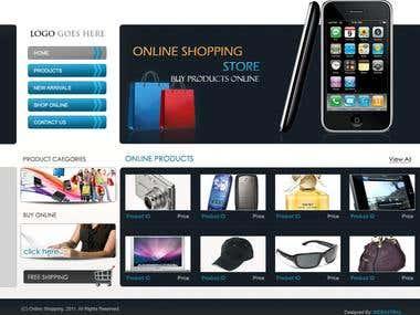 An online shopping store