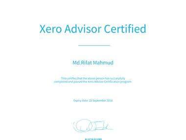 My Xero Adviser Certificate
