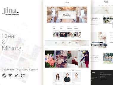 Website Mock-up design and Blog