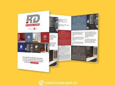 Diseño creativo folleto díptico