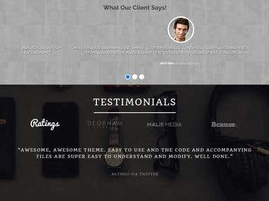 one page responsive website.