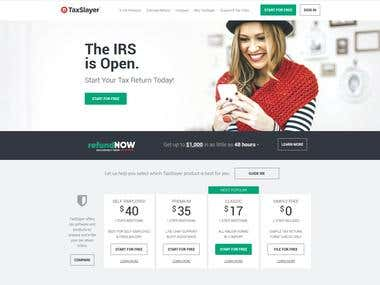 Taxslayer.com, A tax filing website I helped develop