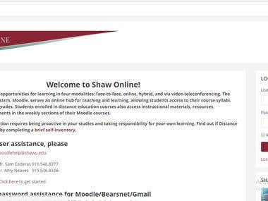 Shaw University E-learning Portal