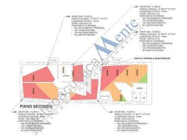CCTV plan on CAD