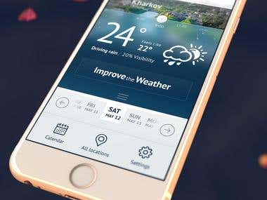 "UI design mobile application ""Lord of the weather"""