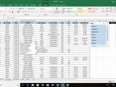 Data validation for fast data entry