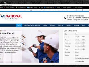 SEO For Electrical Contractors, Site Design and On Wordpress