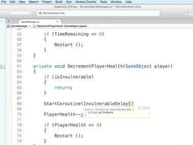 c# script in unity game