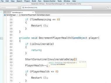 c# script in unity game