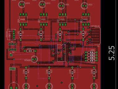 PCB with pcf8575c i2c expander