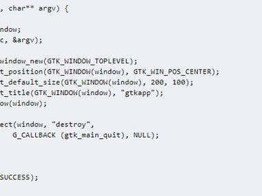 gtk application in c, c++ programming