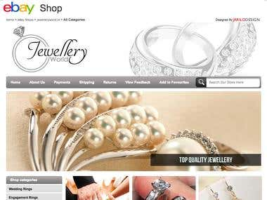 Product description for jewellery Ebay store.