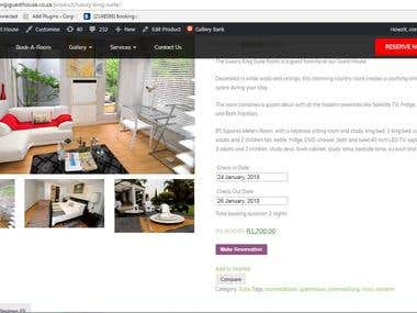 Wordpress Site Creation and Management - Guest House Website