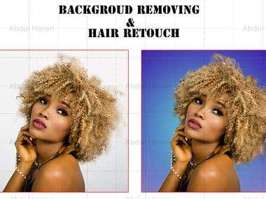 Hair Retouch & Background Removing
