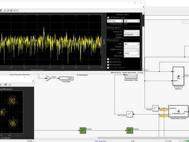 MATLAB simulation for satellite communication system