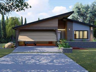 House 3 rooms and 2 bath.. with portico.. Australian Style