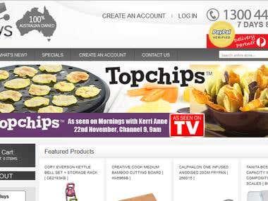 multi-category, multi-brands ecommerce site