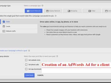 Google AdWords Ad Creation