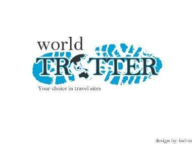 Logo design concept for travel company