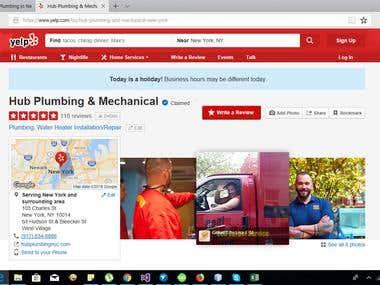 Scraping plumber details