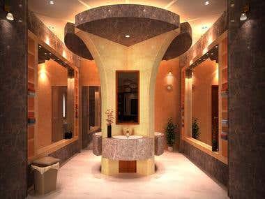 Washing area for arabs villa