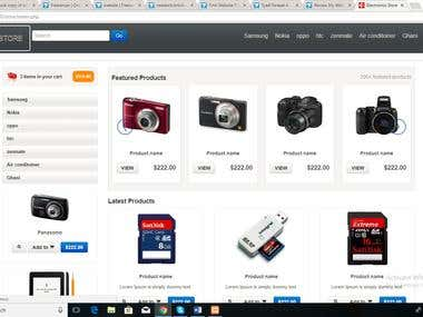 Php Online Electric Store