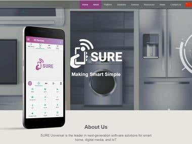 http://www.sureuniversal.com/ (Cloud platform for smart home