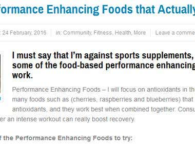 List of performing enhancing foods that actually work