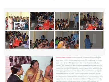 Content Management Website for a Women Organization