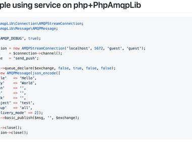 Web push backend service