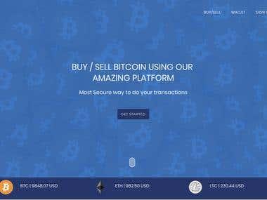 Bitcoin Exchange Portal (similar to coinbase and coinmama )