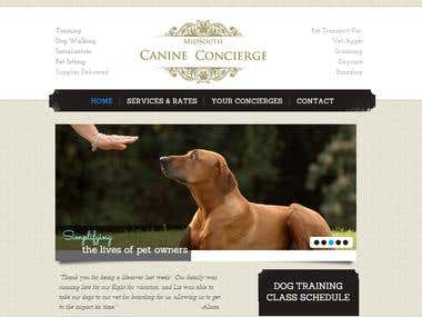 Website for Canine Concierge