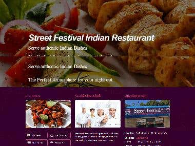 Street Festival Indian Restaurant | Wordpress