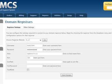 WHMCS .se registrar