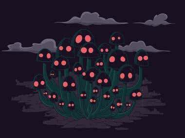 Creepy Shrooms