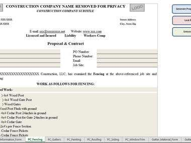 Macro-enabled Excel Template - Custom Forms