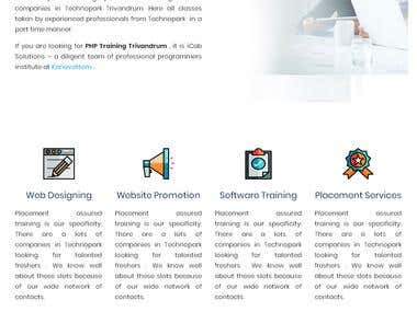 Content Management Website for a Software Company