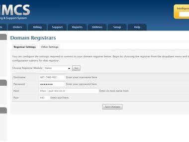 WHMCS .it registrar