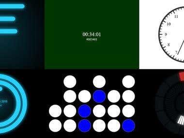HTML5 Canvas & Javascript Clocks
