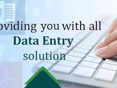 i will provide you all data entry Solution.
