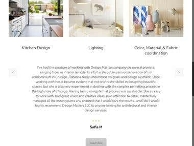 Content Management Website for Interior Designing