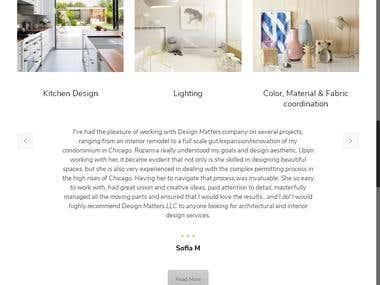 Content Management Website for Interior Designing